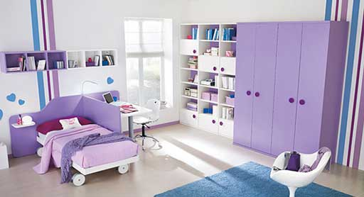 Kids Designer Bedroom with Study Table Computer Table