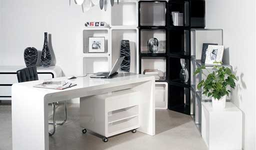 White Office Furniture Design Amazing Pictures