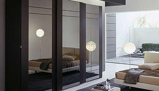 Slider Wardrobe Closet Glass High Gloss