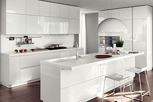 Lacquered Modular Kitchen Design