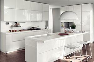 Lacquered Modular Kitchen Design
