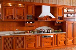 Solid Wood Modular Kitchen Design