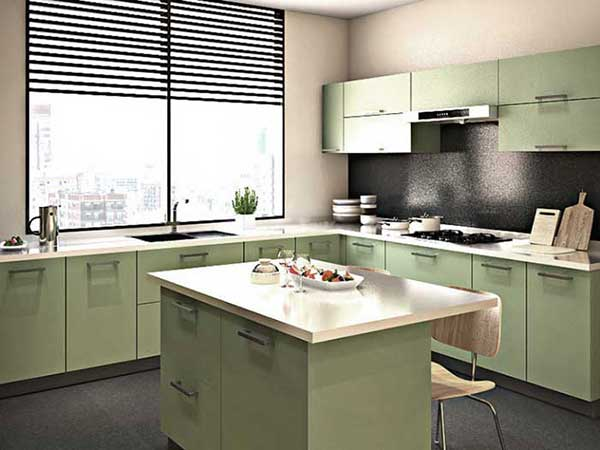 Island Modular Kitchen Design in Delhi