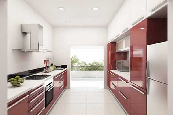 Parallel Shape Modular Kitchen Design in Delhi
