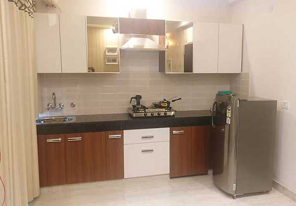 Single Wall Modular Kitchen in Delhi