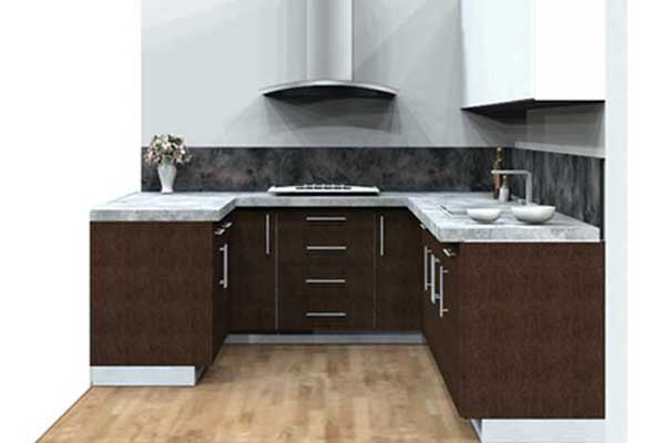U Shape Modular Kitchen Design in Delhi
